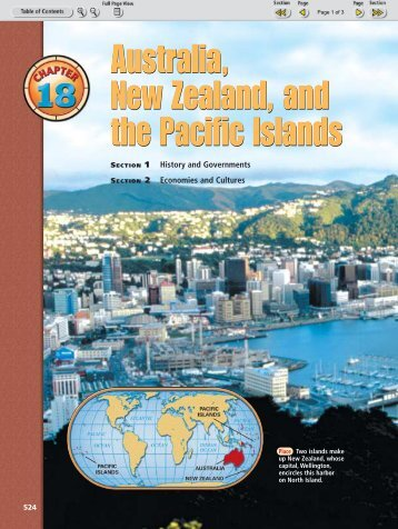 Australia, New Zealand, and the Pacific Islands Australia, New ...