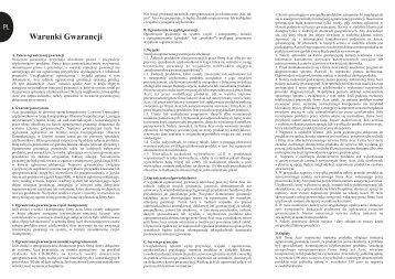 Warunki Gwarancji - Acer