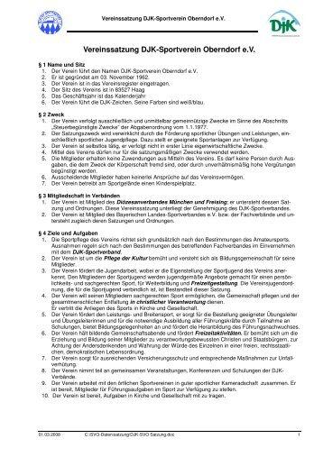 DJK-SVO Satzung-hp.pdf - DJK SV Oberndorf