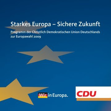 Europamanifest der CDU - des Deutschen Hanf Verband