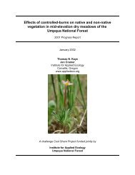Effects of controlled-burns on native and non-native vegetation in ...