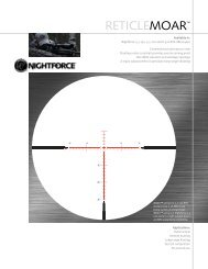 Nightforce MOAR Reticle - OpticsPlanet.com
