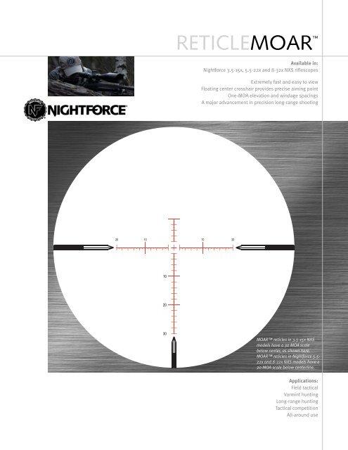 Nightforce MOAR Reticle - OpticsPlanet.com