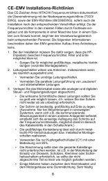 CE–EMV Installations-Richtlinien - Stoewer-Getriebe.de