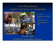 Food Procurement - Sustainability at UC