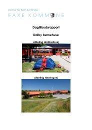 Dagtilbudsrapport 2012 - Dalby Børnehuse - Faxe Kommune
