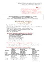 Læs referatet fra møde den 12. marts 2008 - Akademiraadet