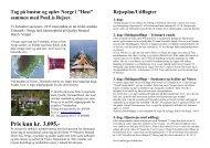 Norge i Høst 2013 PouLis Rejser v/ Pouli Pedersen & Lis Nyrup