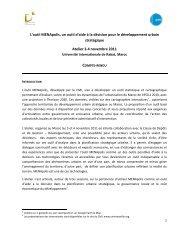 Programme, Compte-rendu et Conclusions - CMI