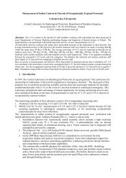 Measurement of Iodine Content in Thyroid of Occupationally ... - IRPA
