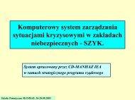 System zarządzania sytuacją kryzysową w zakładach - MANHAZ