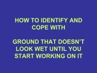 how to identify and cope with ground that doesn't look wet until you ...