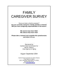 FAMILY CAREGIVER SURVEY - Central Coast Commission for Senior