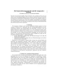 Die Konstruktionsgrammatik und die komparative Methode