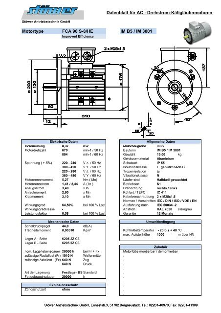 FCA 90 S-8/HE B5 - Stoewer Antriebstechnik