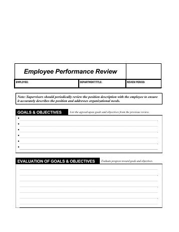 The University Of Tennessee Performance Review Form EmployeeS