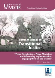 Transitional Justice Institute - University of Ulster