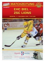 EHC BIEL – ZSC LIONS