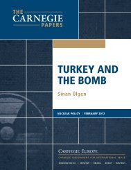 turkey and the bomb - Carnegie Endowment for International Peace