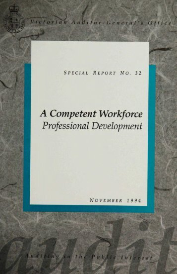 A competent workforce : professional development
