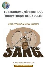 le syndrome néphrotique idiopathique de l'adulte - Nephropolis