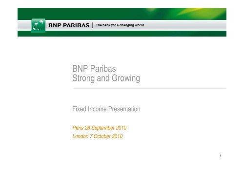September / October - BNP Paribas