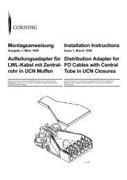 rohr in UCN Muffen Installation Instructions Distribution Adapte