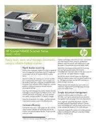 HP Scanjet N8400 Scanner Series - Toshiba