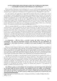 LA VULGARISATION SCIENTIFIQUE, EFFET DE VITRINE ... - GESN