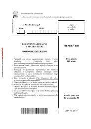 EGZAMIN MATURALNY Z MATEMATYKI POZIOM ROZSZERZONY ...