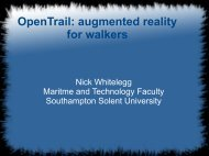 OpenTrail: augmented reality for walkers - State Of The Map Europe ...