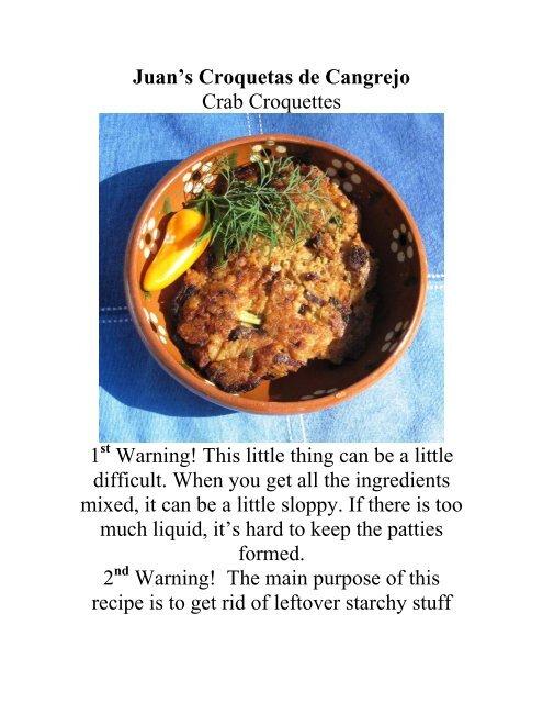 Juan's Croquetas de Cangrejo - The Geriatric Gourmet