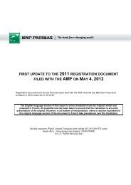 first update to the 2011 registration document filed ... - BNP Paribas