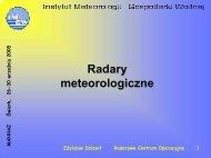 Radary meteorologiczne - MANHAZ