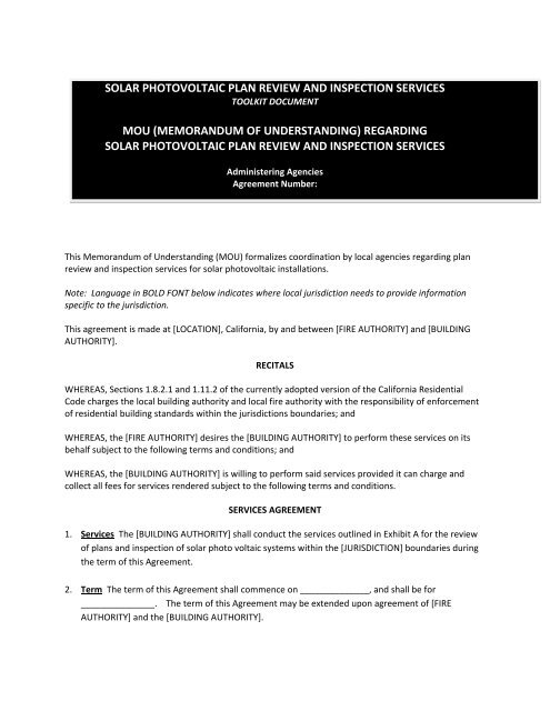 sample interdepartmental memorandum of understanding office of