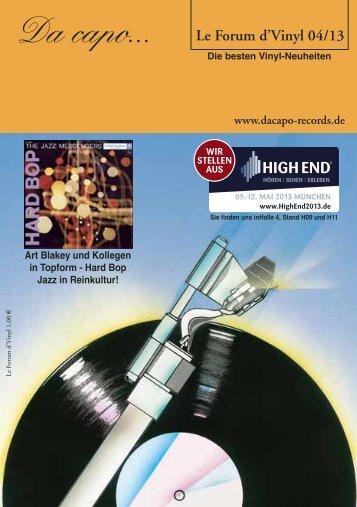 Le Forum d´Vinyl Ausgabe April 2013 - Da capo