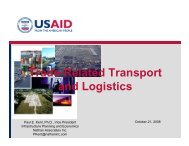 Trade-Related Transport and Logistics.pdf - Economic Growth - USAid