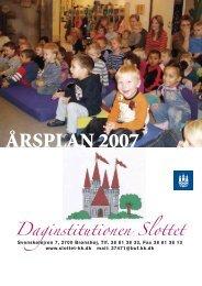 Årsplan 2007 - Slottet