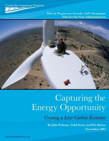 Capturing the Energy Opportunity - Center for American Progress