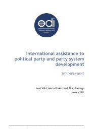 International assistance to political party and party system ...