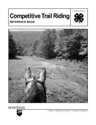 Competitive TrailRiding REFERENCE BOOK - Penn State University