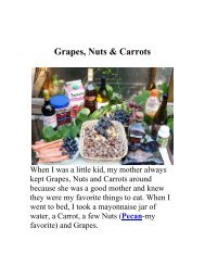 Grapes, Nuts & Carrots - The Geriatric Gourmet