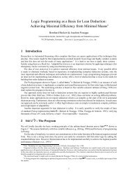 Logic Programming as a Basis for Lean Deduction: Achieving ...