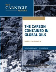 ThE CARBoN CoNTAINED IN GLoBAL oILs - Carnegie Endowment ...