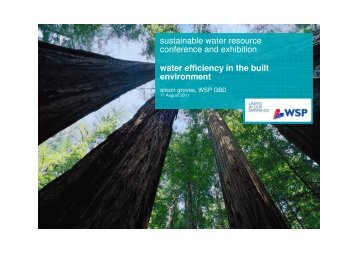 sustainable water resource conference and exhibition ... - Alive2green