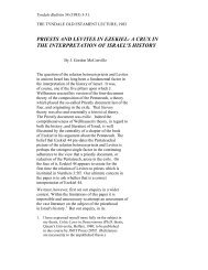 PRIESTS AND LEVITES IN EZEKIEL: A CRUX IN ... - Tyndale House