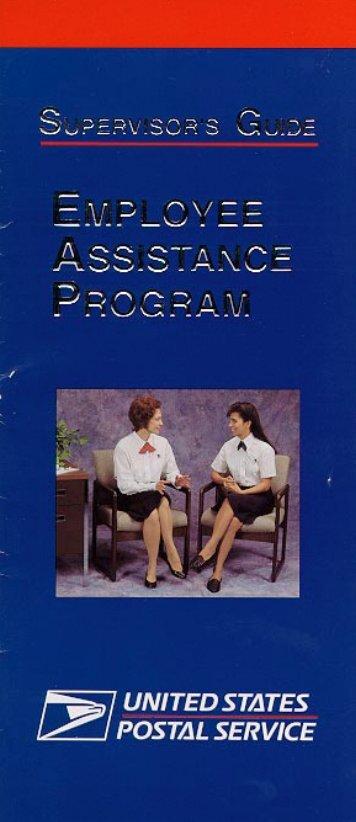 PUB 518 - Supervisor's Guide, Employee Assistance Program