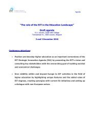 ?EIT Education Conference? - European Institute of Innovation and ...