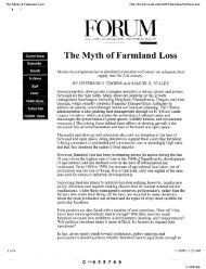 The Myth of Farmland Loss
