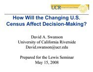 David Swanson - University of California, Riverside